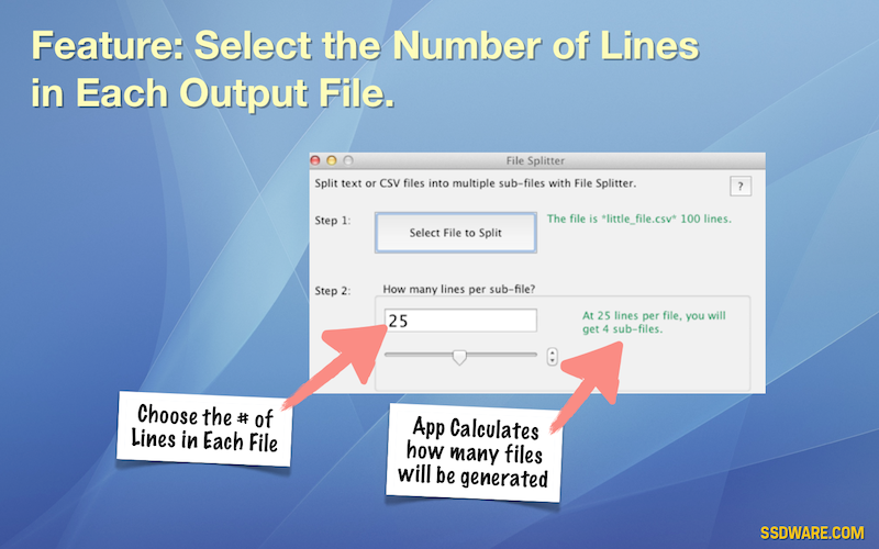 File Splitter for Mac ssdware -- artisanal software and apps