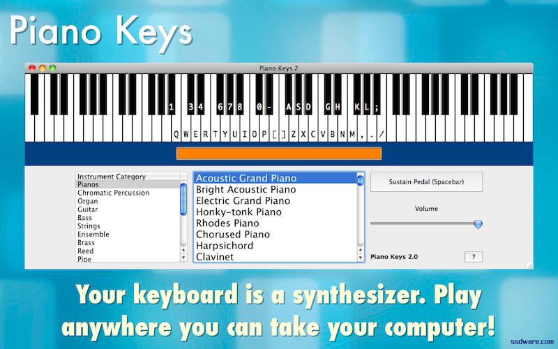 Piano Keys for Windows and Mac ssdware -- artisanal software