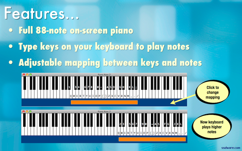 Piano Keys for Windows and Mac ssdware -- artisanal software